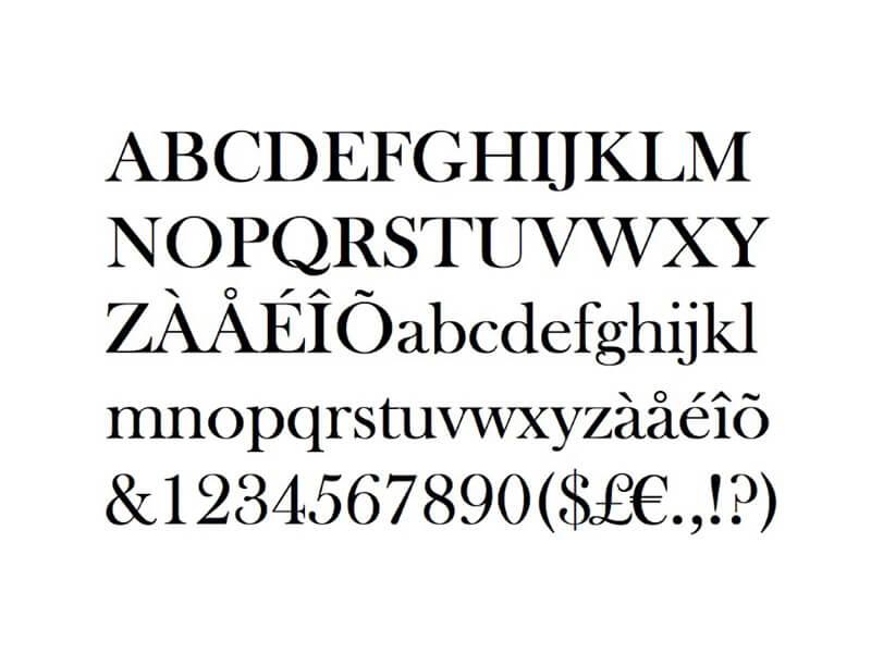 Baskerville Font Letters Free Download