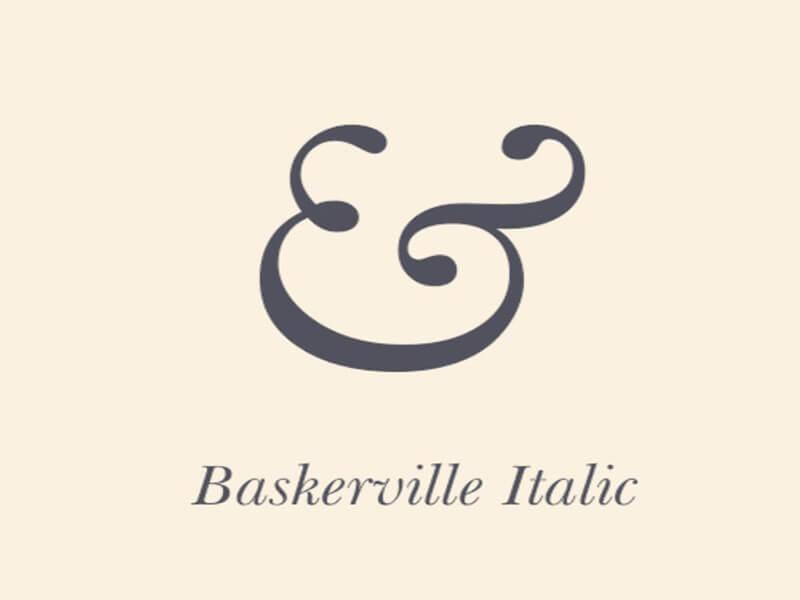 Baskerville Italic Font Free Download