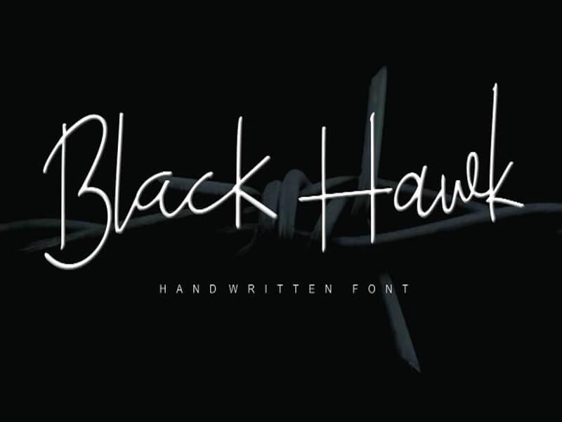Black Hawk Font Free Download