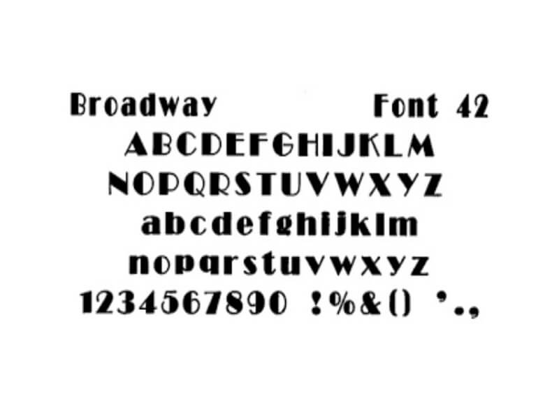 Broadway Font Free Download