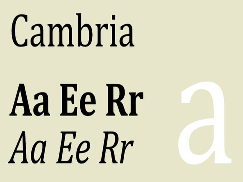 Cambria Font Download