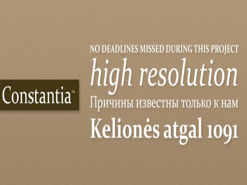 Constantia Font Download