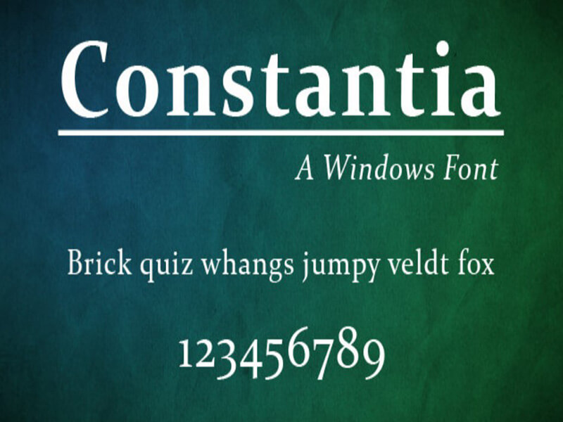 Constantia Font Family Free Download
