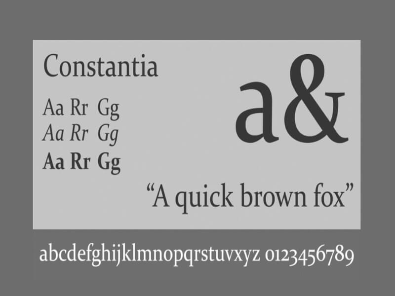 Constantia Font Free Download
