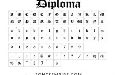 Diploma Font Family Free Download