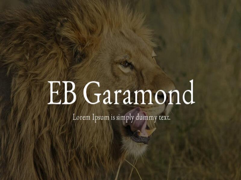 EB Garamond Font Family Download