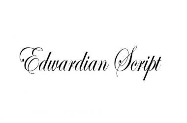 Edwardian Script Font Family Free Download