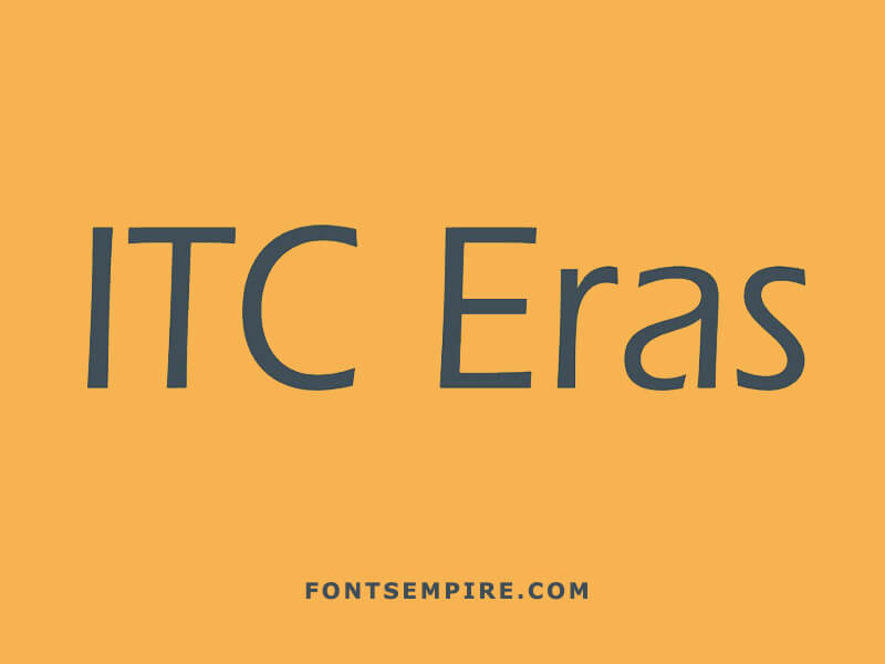 Eras Font Family Free Download