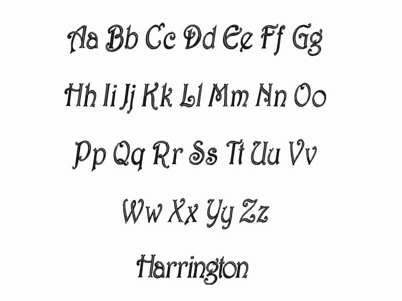 Harrington Font Download