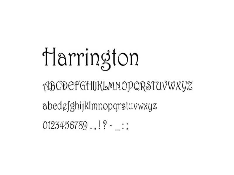 Harrington Font Free Download