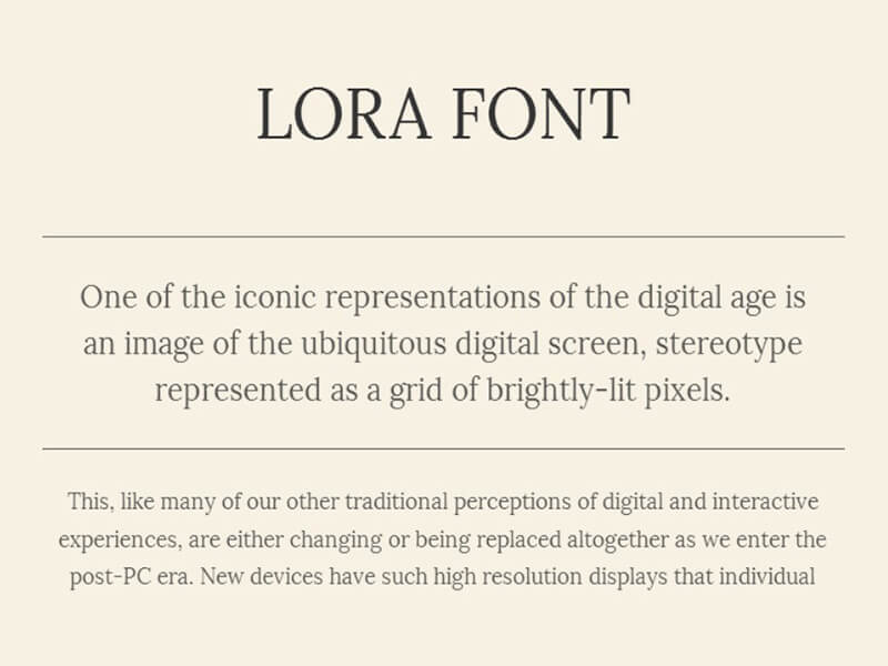 Lora Font Family Free Download