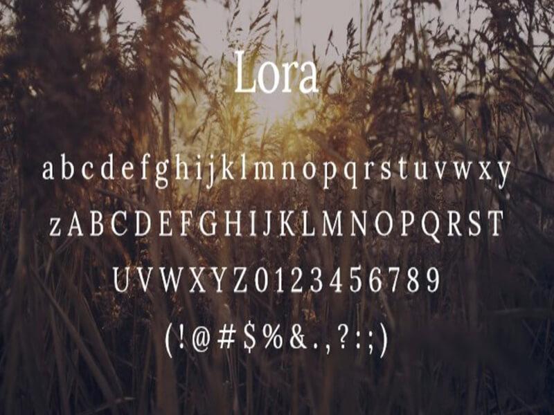 Lora Font Free Download