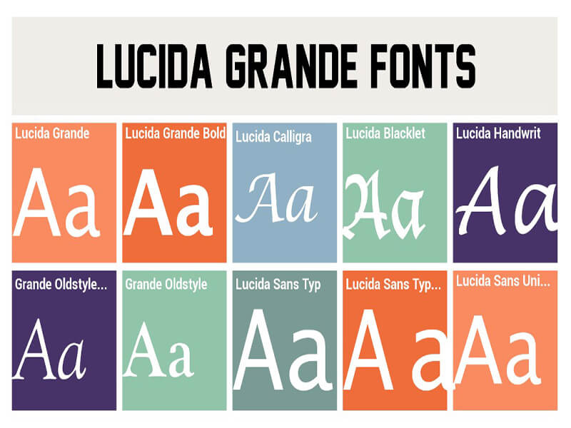 Lucida Grande Font Family Free Download