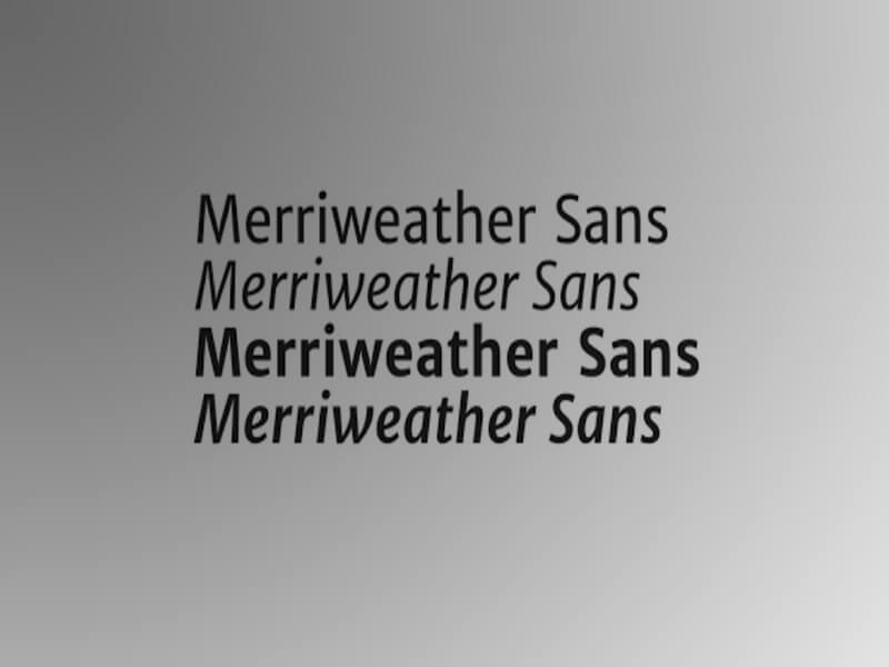 Merriweather Sans Font Download