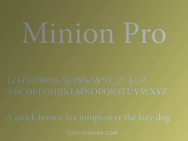 Minion Pro Font Family Free Download