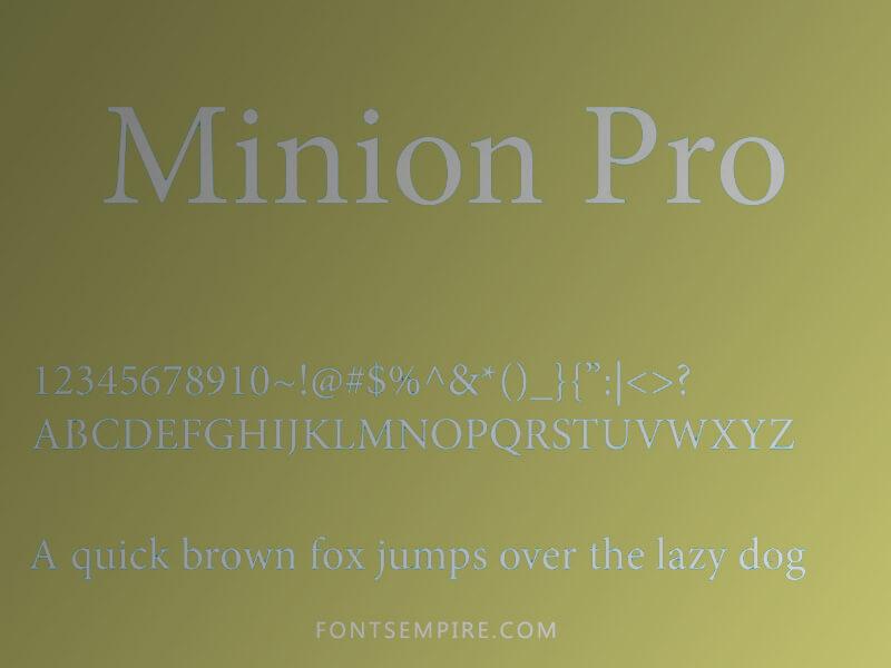 Minion Pro Font Family Free Download
