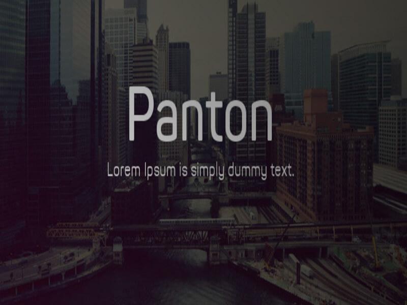 Panton Font Family Zip