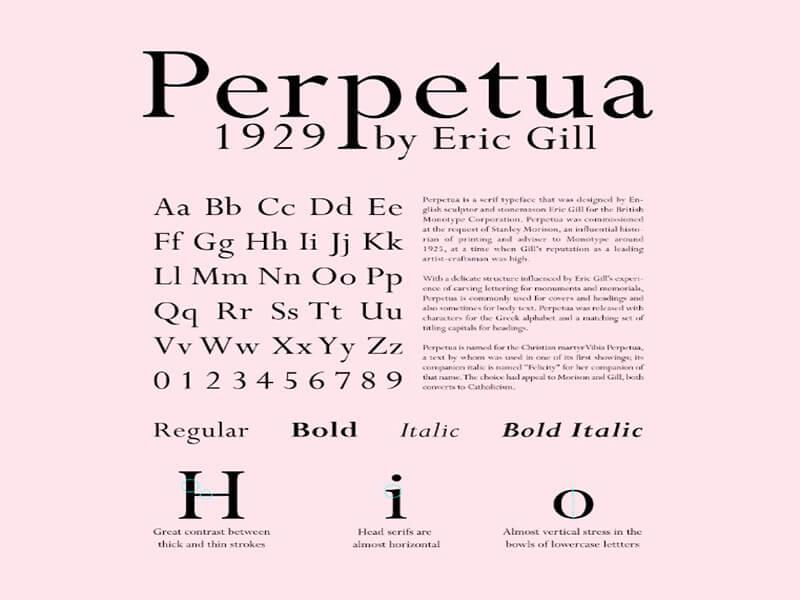 Perpetua Font Family Free Download