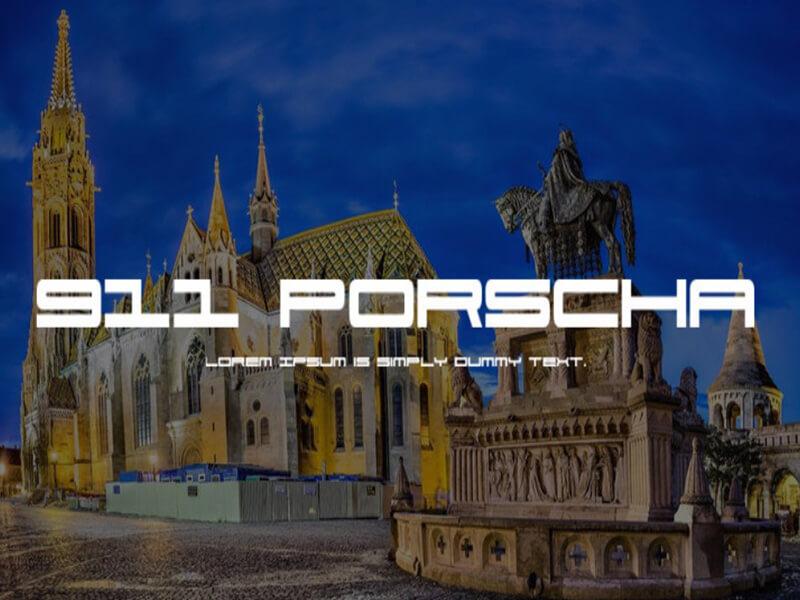 Porsche Font Free Download - Fonts Empire