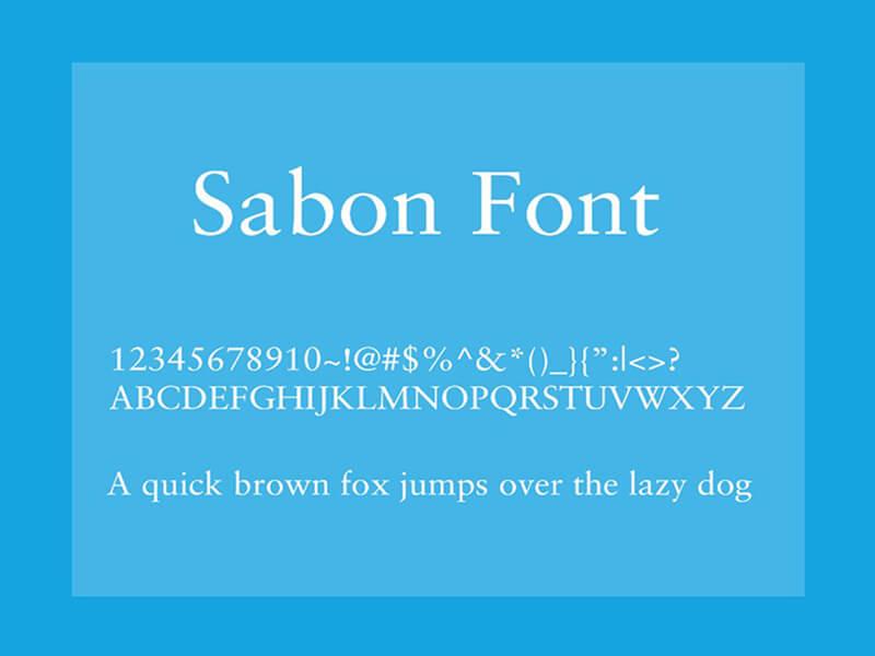 Sabon Font Family Free Download
