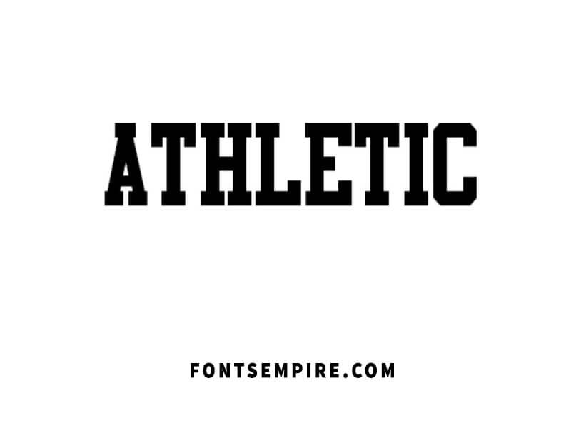Athletic Font Family Free Download