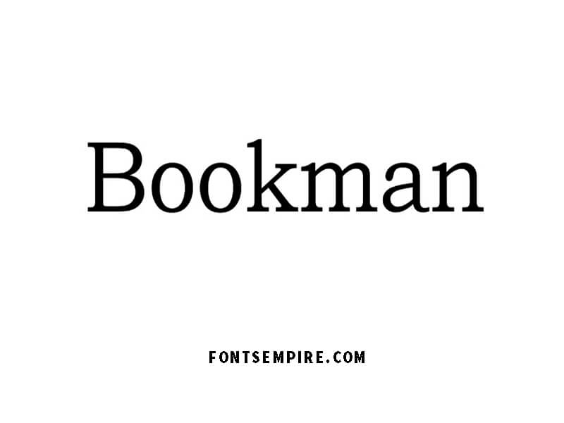 Bookman Font Family Free Download