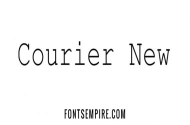 Courier New Font Family Free Download