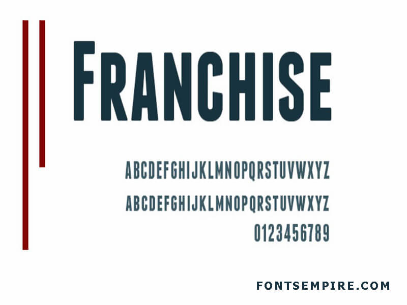 Franchise Font Family Free Download