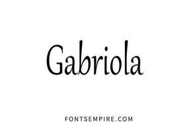 Gabriola Font Family Free Download