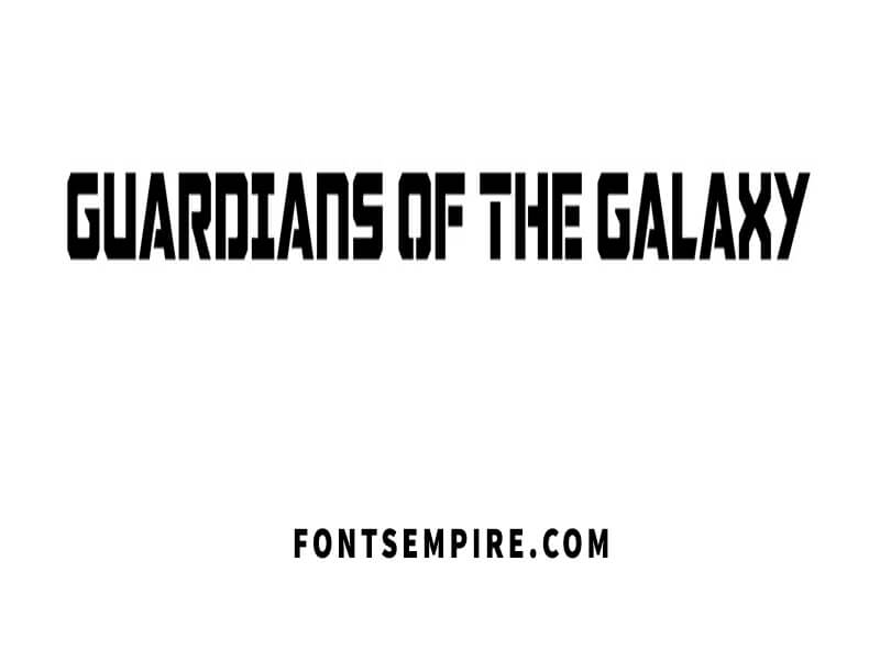 Guardians Of The Galaxy Font Free Download