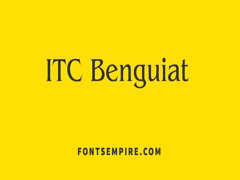ITC Benguiat Font Family Free Download
