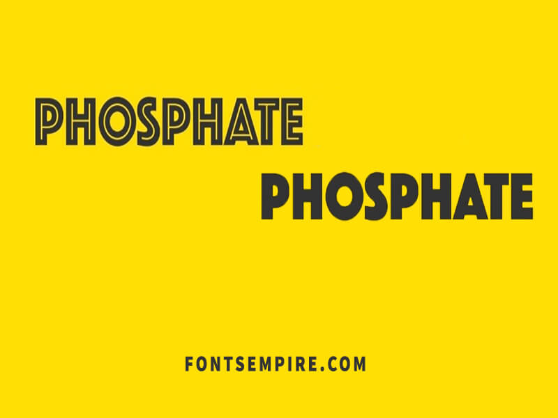 Phosphate Font Family Free Download
