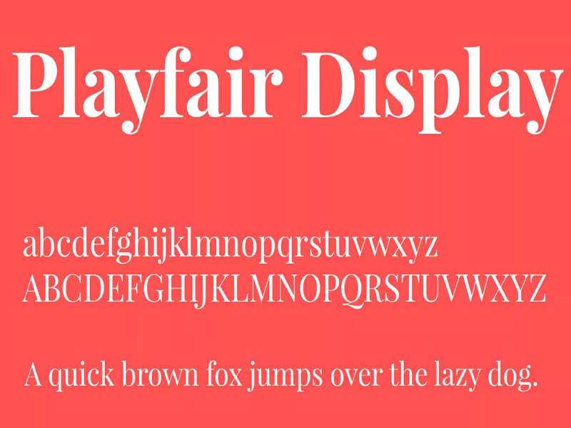 Playfair Display Font Family Download
