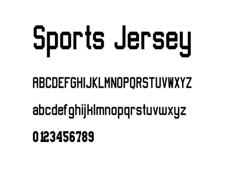 Sports Jersey Font Family Free Download