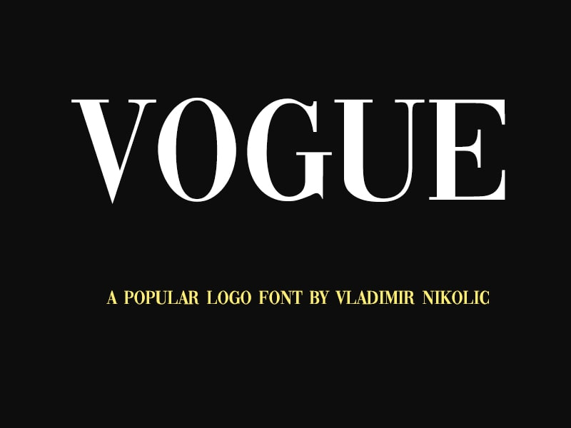 Vogue Font Family Alphabets Free Download