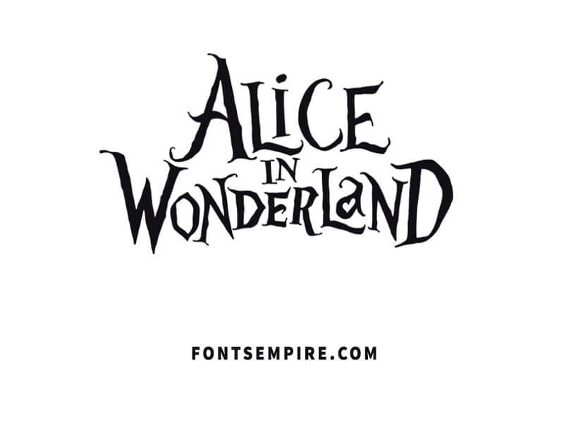 Alice In Wonderland Font Family Free Download