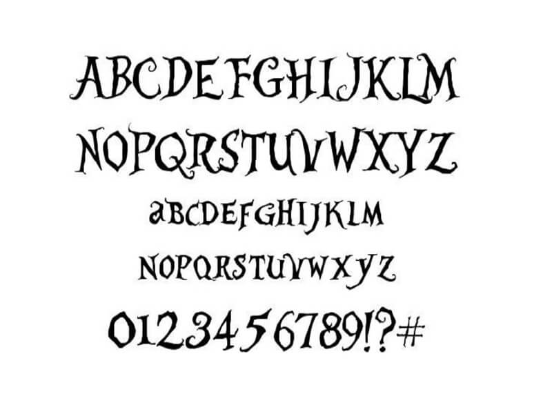 Alice In Wonderland Font Free Download