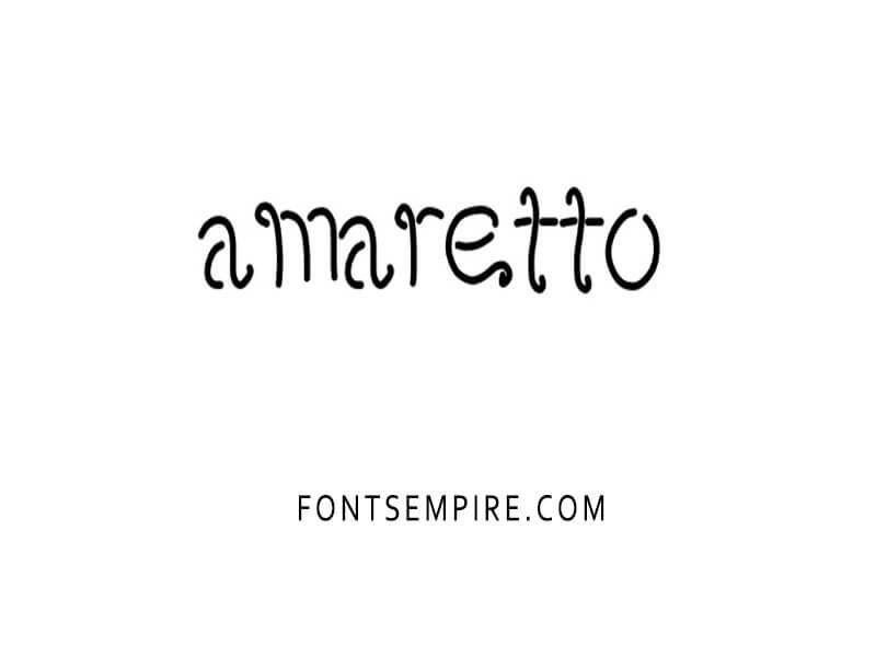 Amaretto Font Free Download