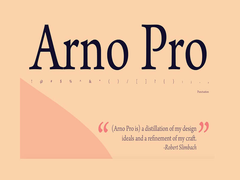 Arno Pro Font Family Free Download