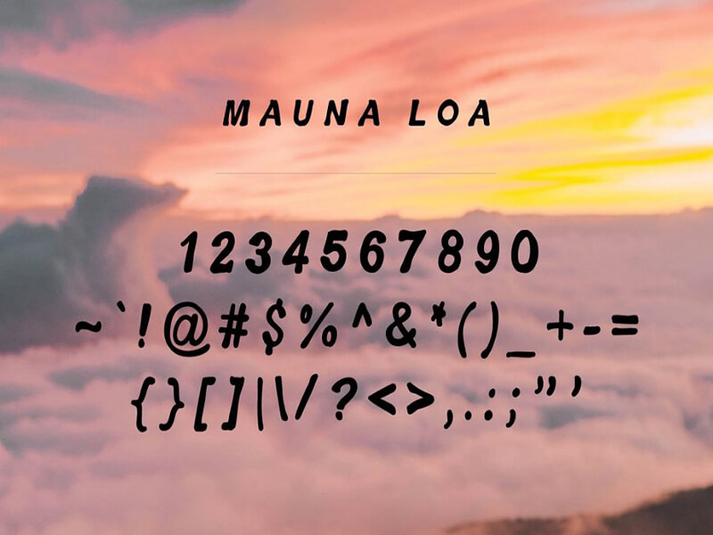 Hawaiian Font Numbers Download