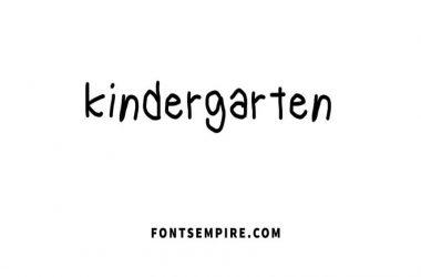 Kindergarten Font Free Download