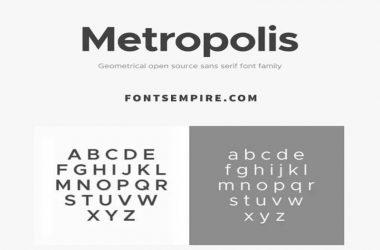 Metropolis Font Family Free Download