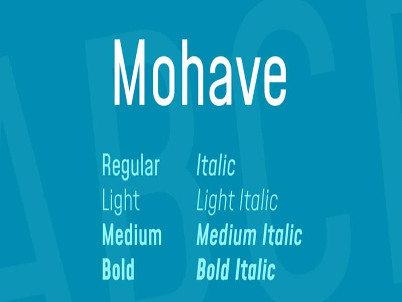 Mohave Font Family Free Download