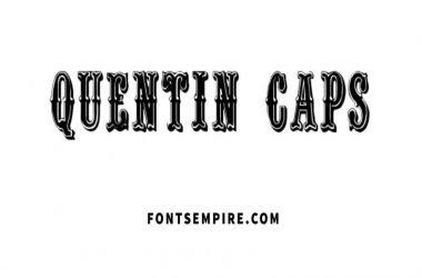 Quentin Caps Font Download