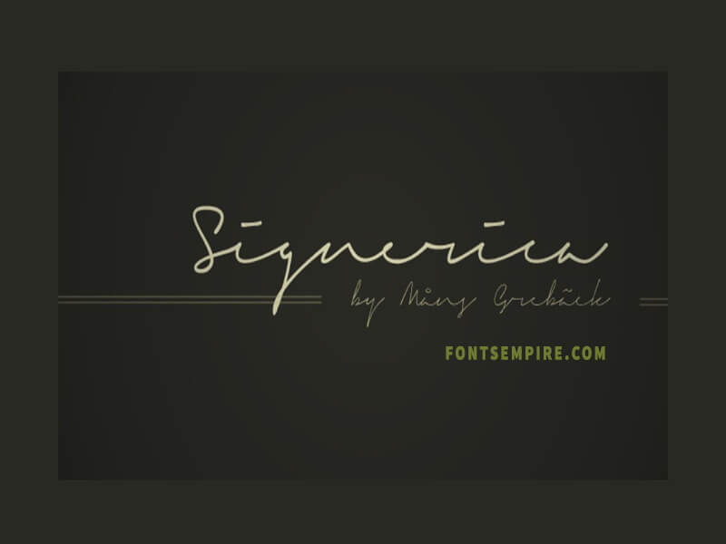 Signerica Font Family Free Download