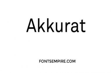 Akkurat Font Family Free Download