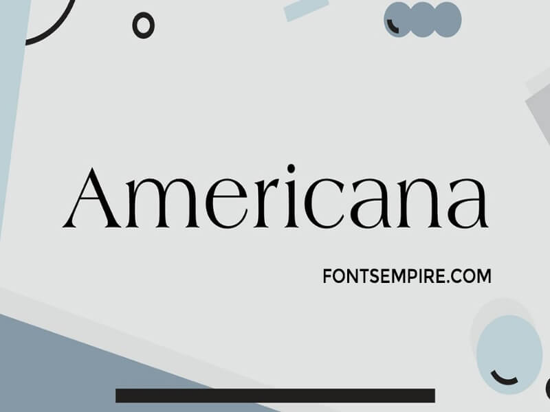 Americana Font Family Free Download