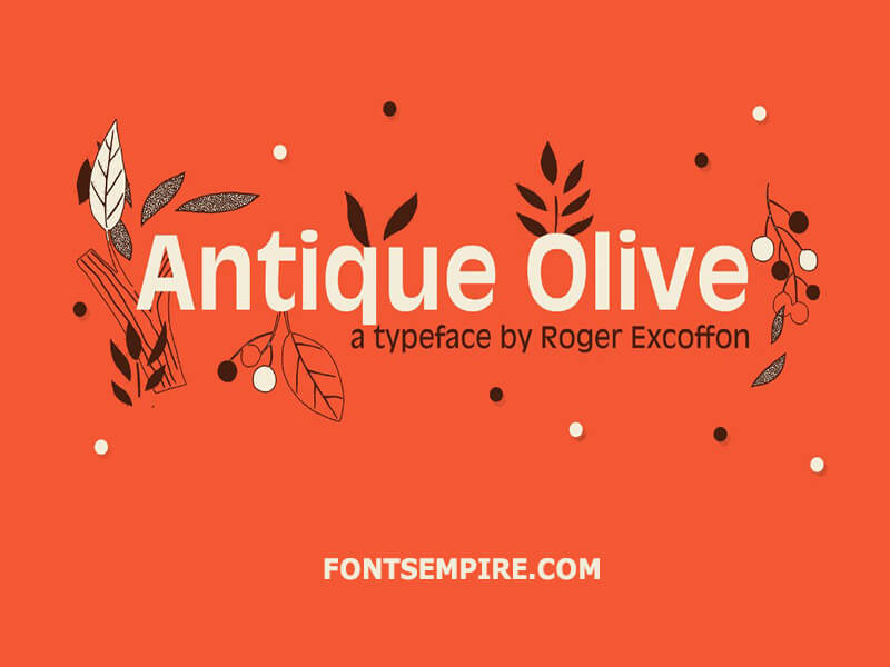 Antique Olive Font Family Free Download