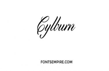 Cylburn Font Family Free Download