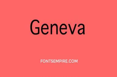 Geneva Font Family Free Download